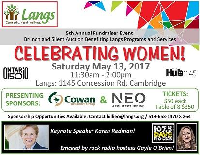 Celebrating Women Event Poster