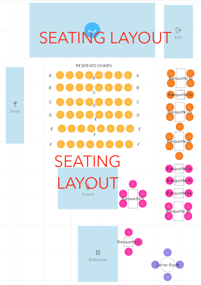SEATING CHART QUEEN ACOUSTIC