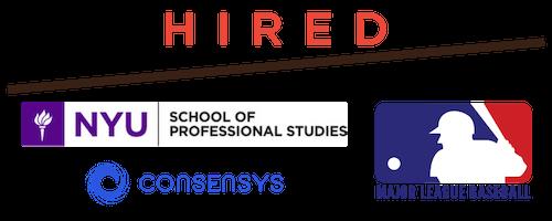 hired, major league baseball, consensys, new york university school of professional studies