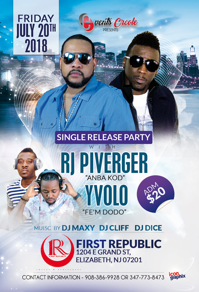 Single Release Party with RJ Piverger and Yvolo