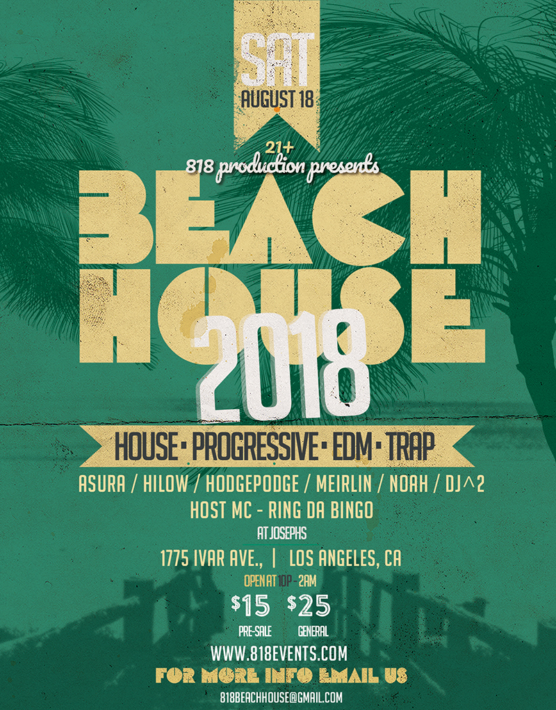 Beach House 2018 e-flyer