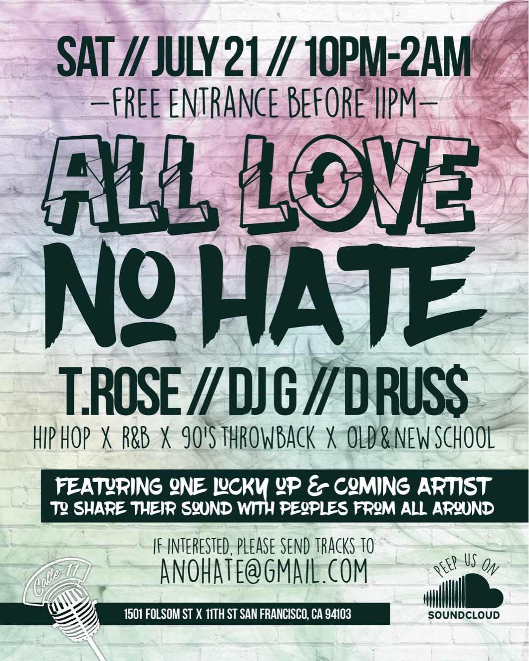 All Love No Hate Poster