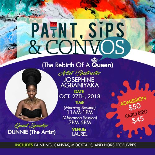 Paint, Sips and Convos