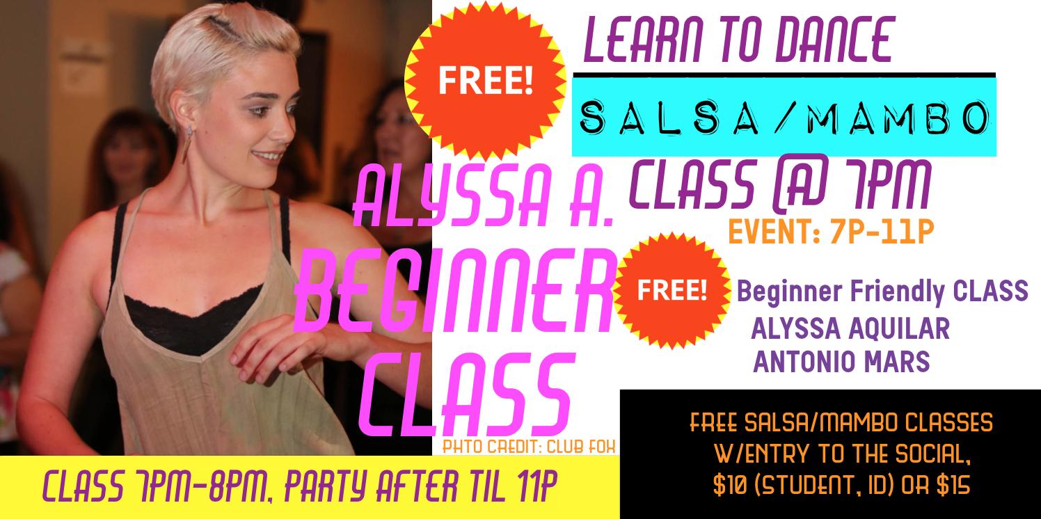 Alyssa Teaching at iLoveMambo Social