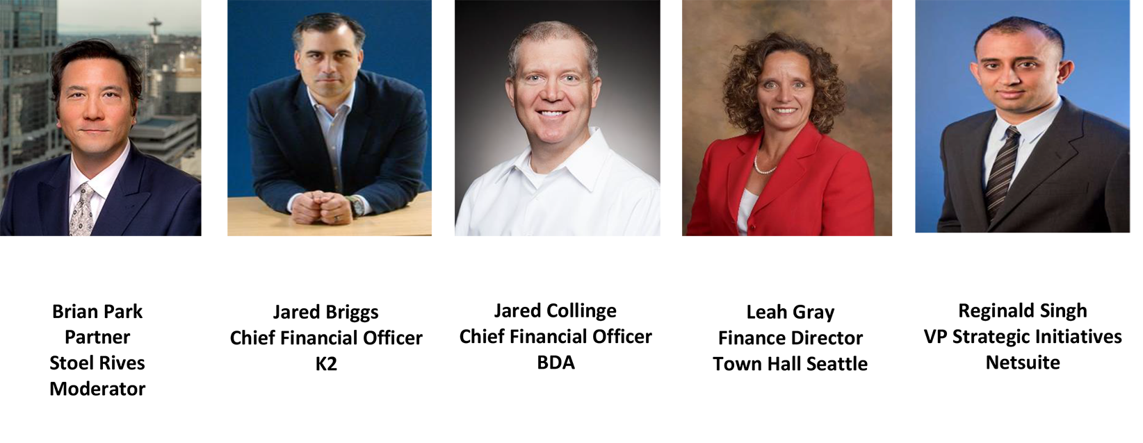 CFO Leadership Council Speakers for 09/20/2018