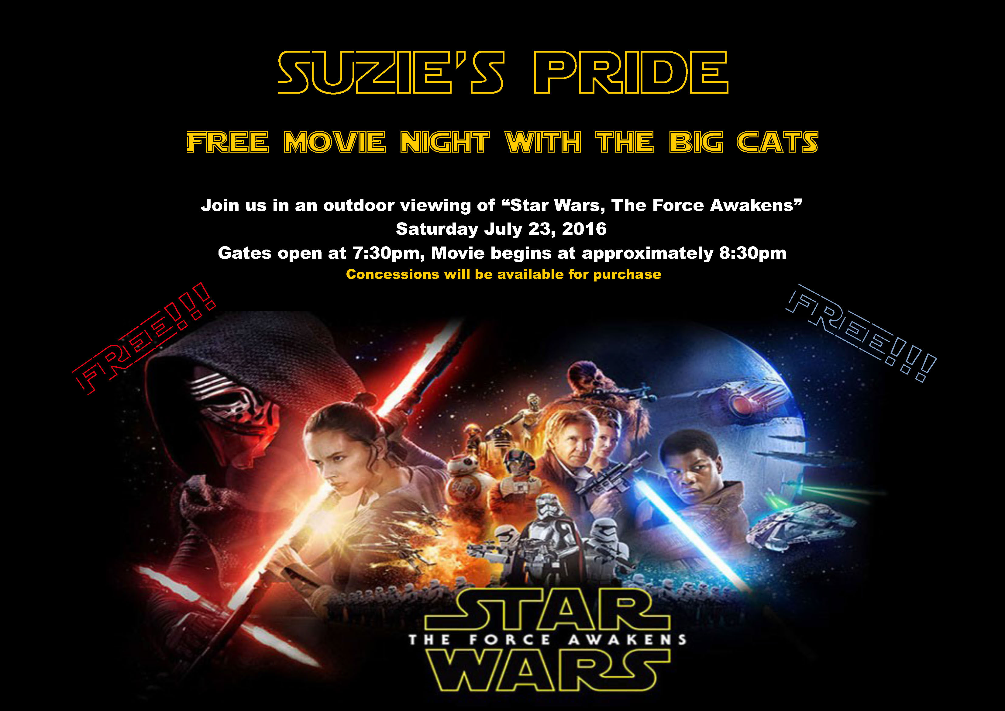 Free Movie Night with the Big Cats!!