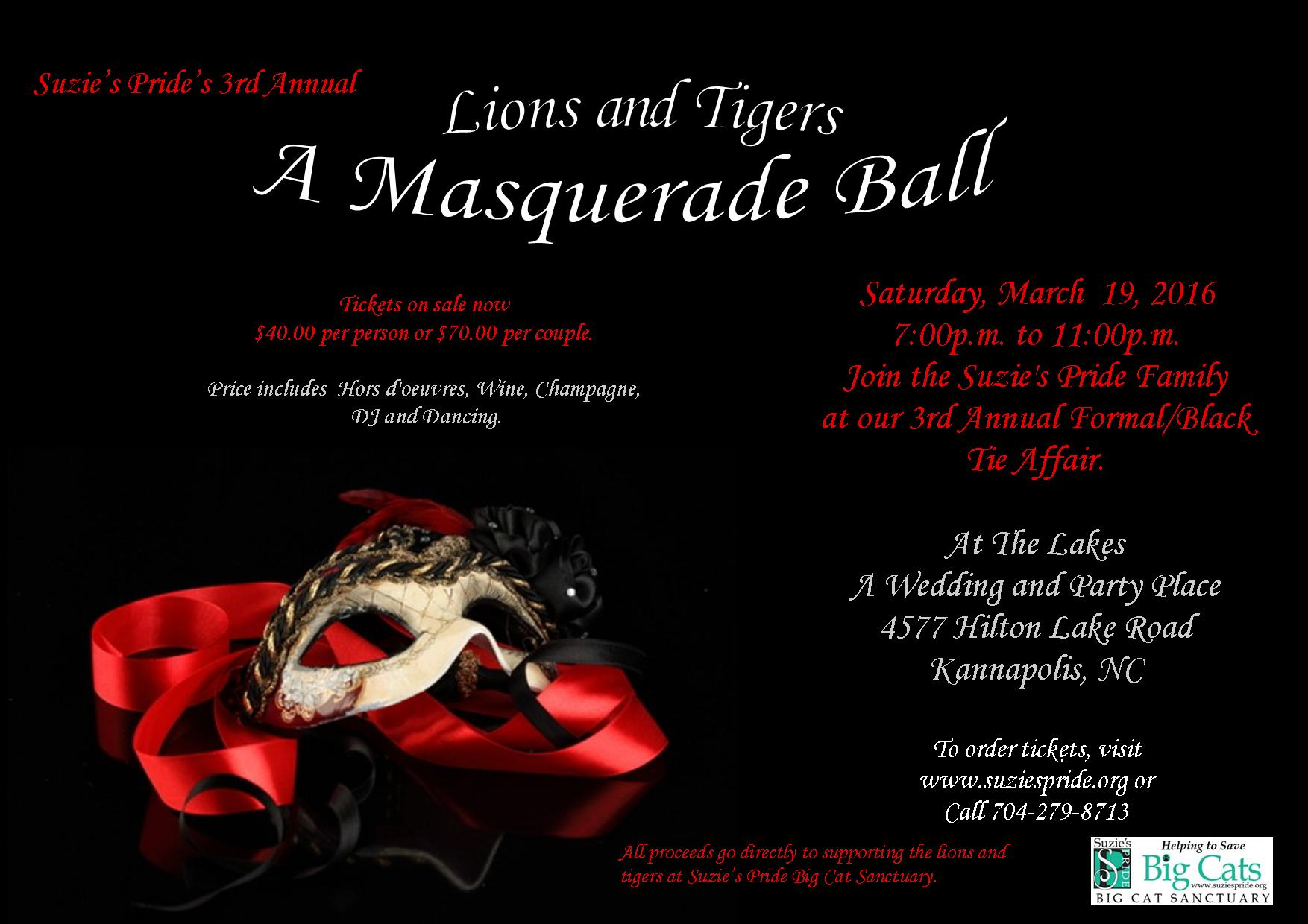 Lions and Tigers A Masquerade Ball 2016
