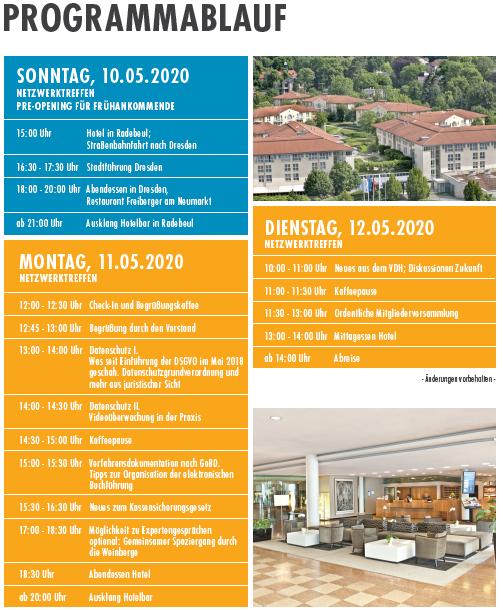 VDH Netzwerktreffen mit informativen Vorträgen und Ordentlche Mitgliederversammlung 2020