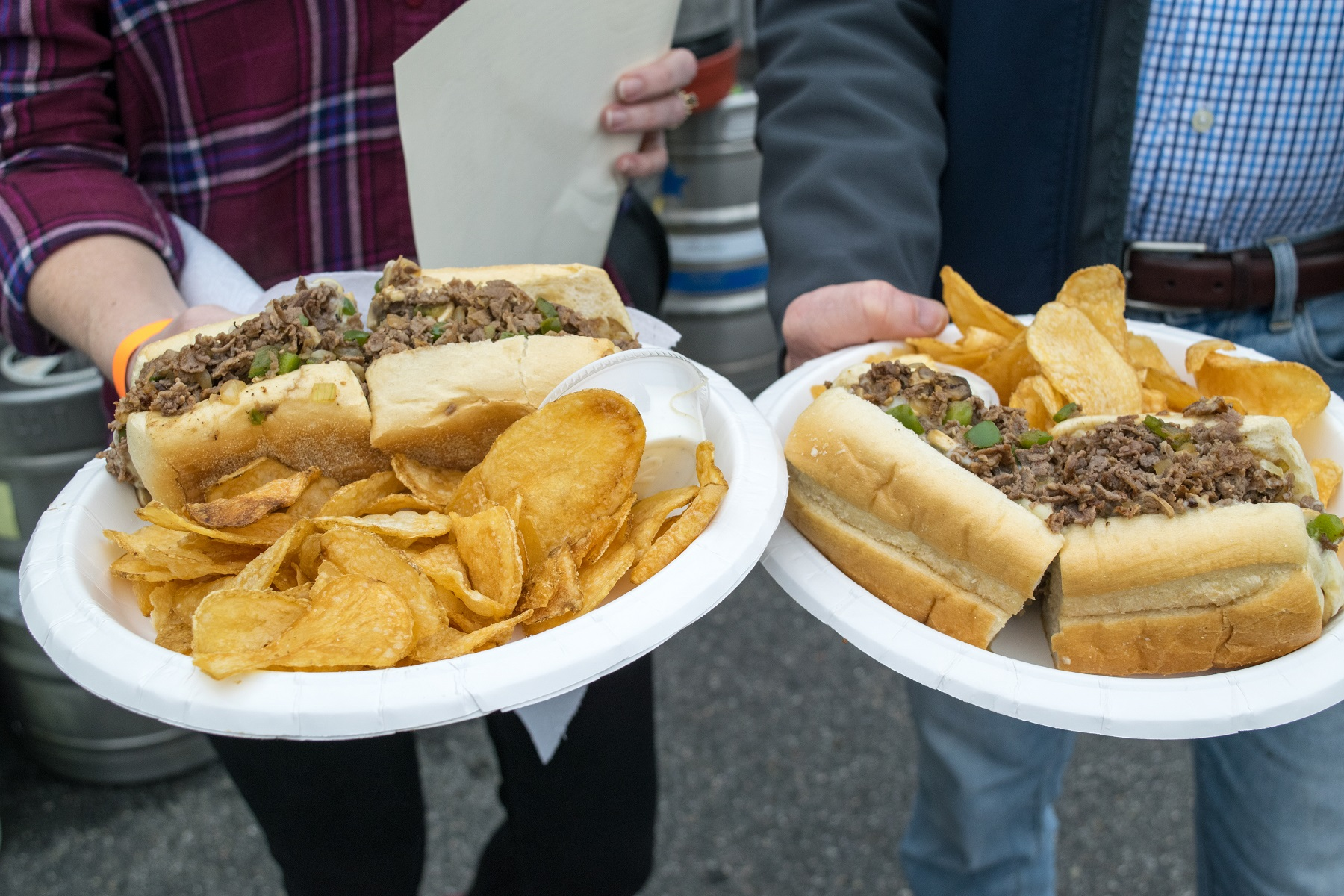 2 Philly Cheesesteaks