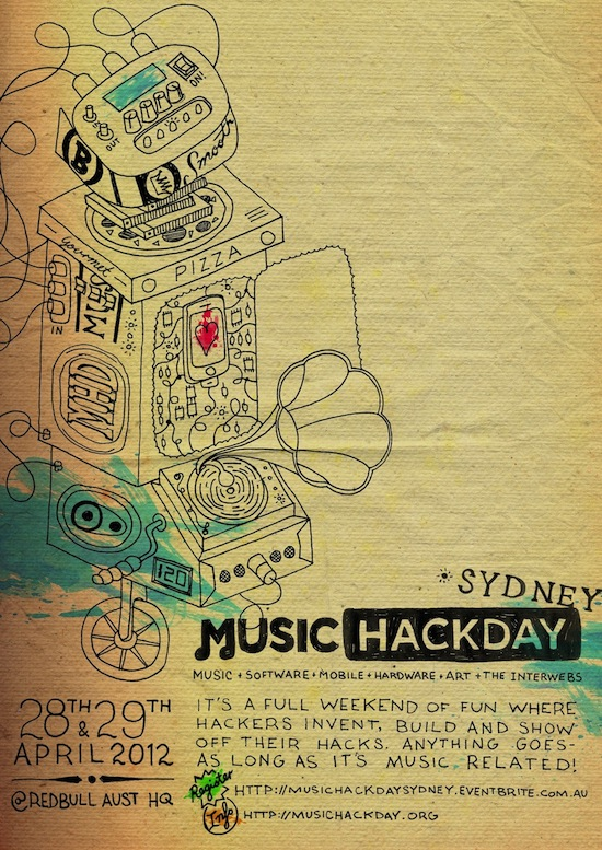Music Hack Day Sydney poster art