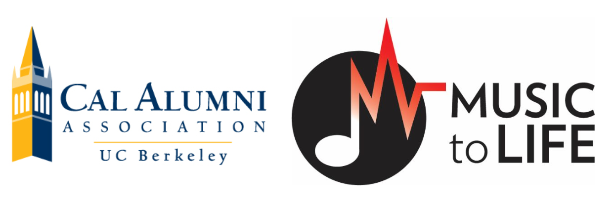 Cal Alumni Association and Music to Life Logos
