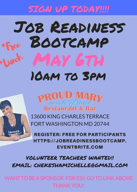 Job readiness bootcamp tickets sat may 6 2017 at 10 00 for 13600 king charles terrace ft washington md