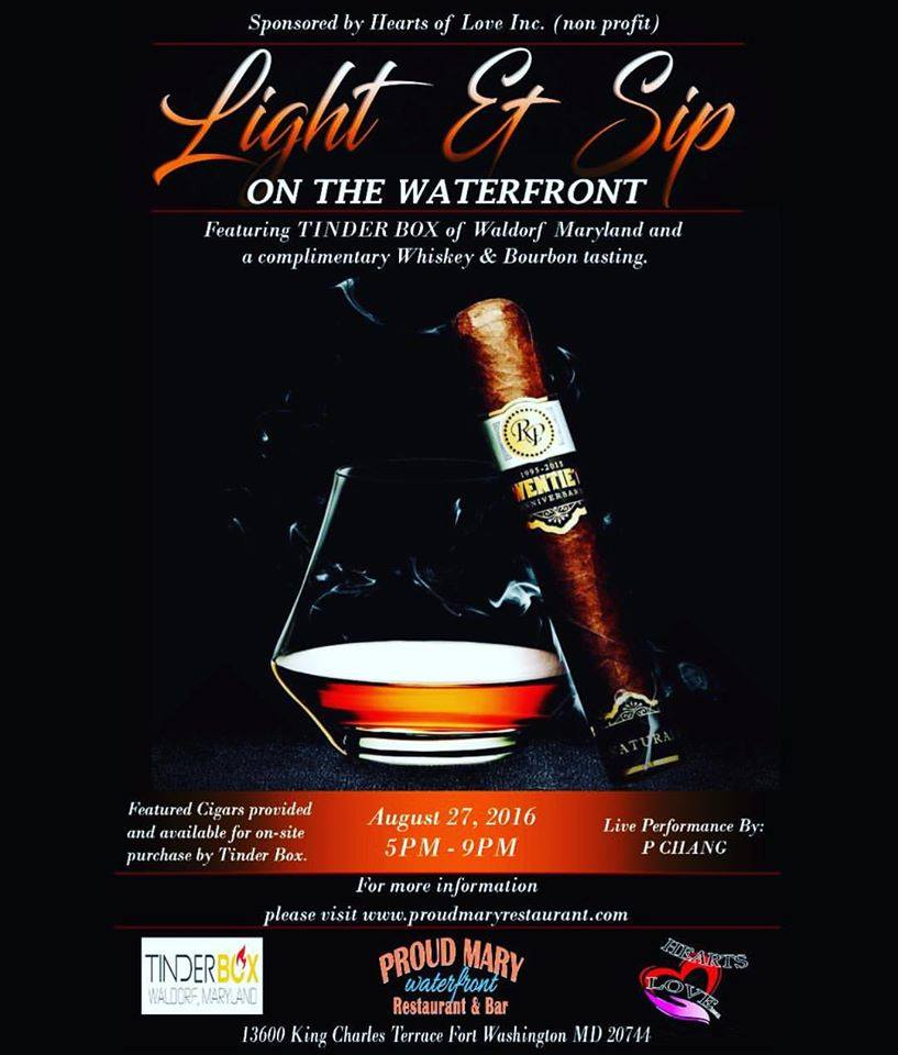 Whiskey bourbon cigar event tickets sat aug 27 2016 at for 13600 king charles terrace ft washington md