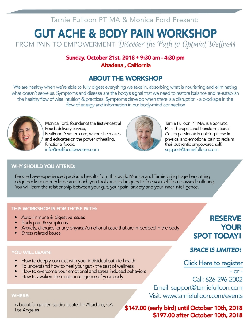 Gut Ache and Body Pain Workshop