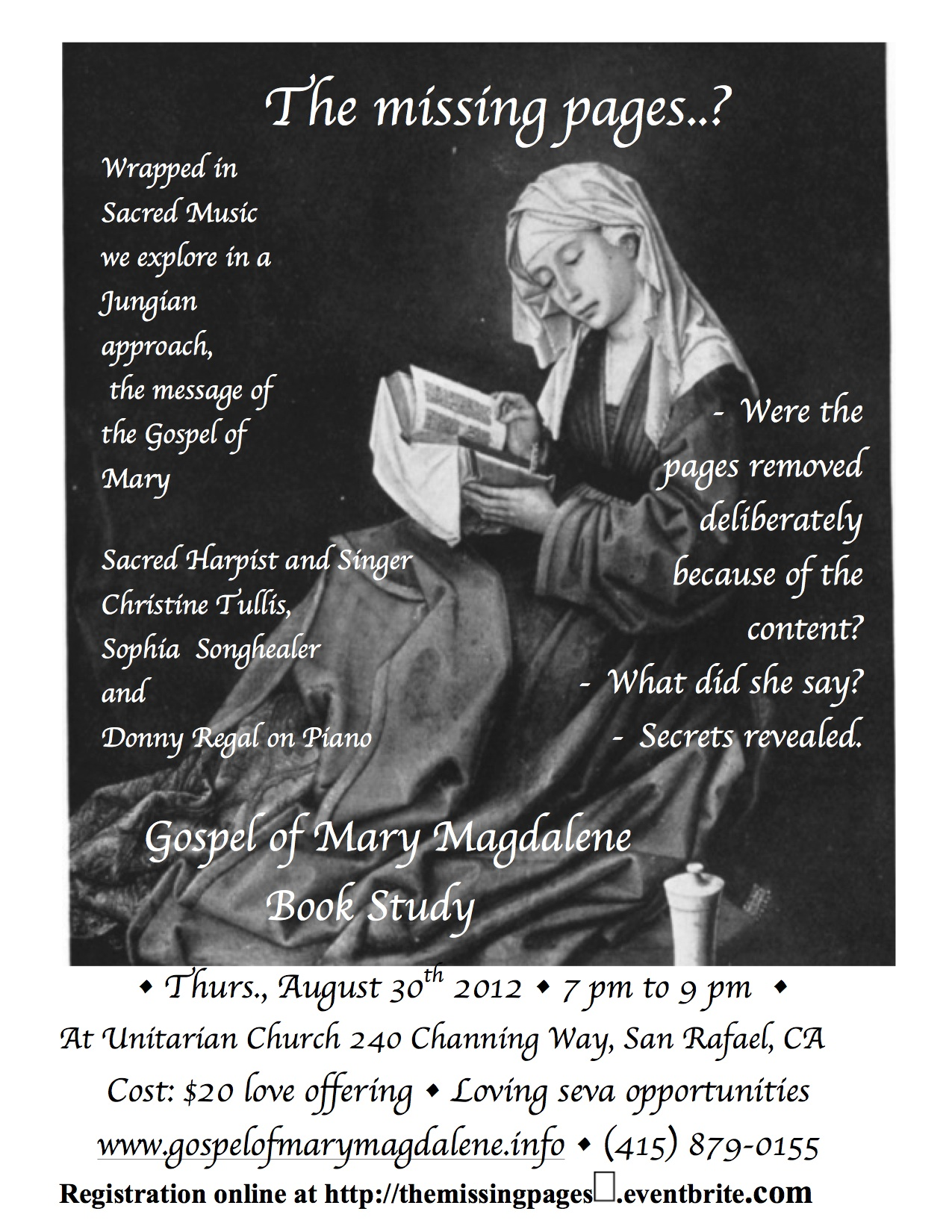 Missing Mary Pickford Part Two The Famous Player: Gospel Of Mary...The Missing Pages? Tickets, Thu, Aug 30
