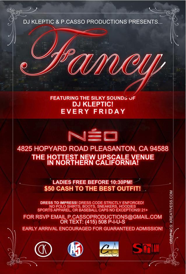 Fancy @ NEO Back Flyer