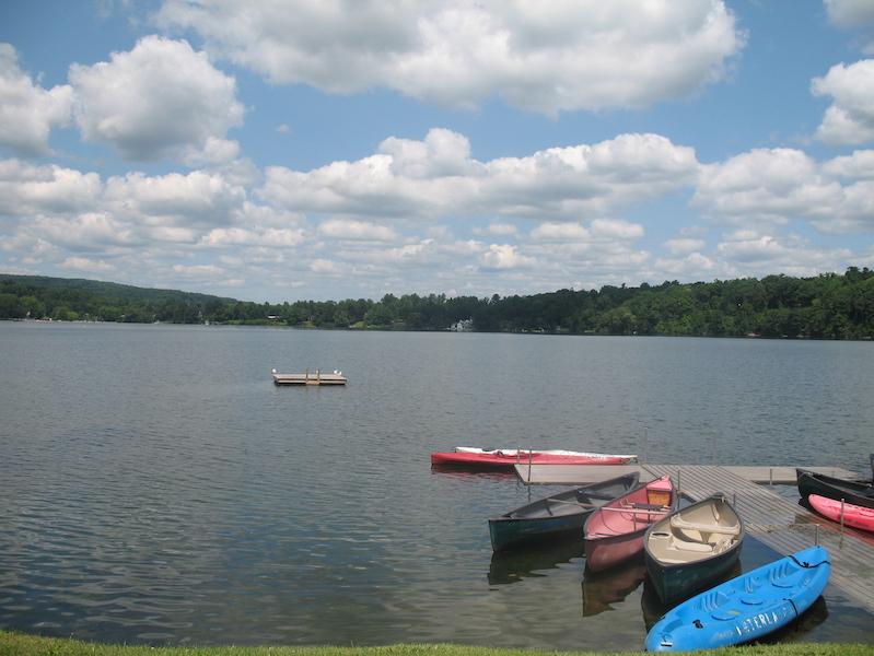 Canoes and Kayaks on Lake