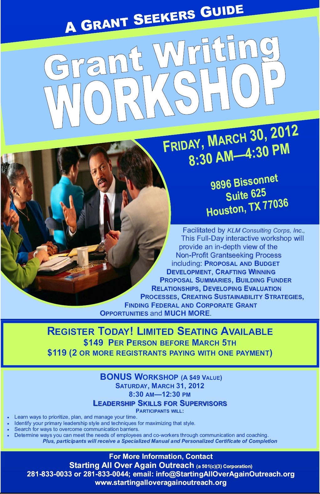 grant writing classes in houston
