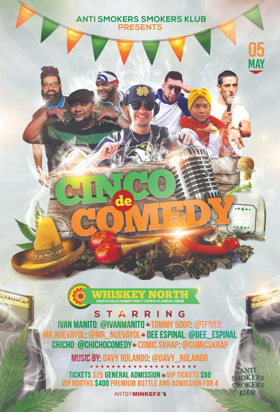 cinco de comedy flyer