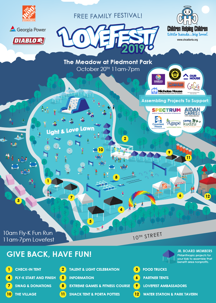 LOVEFEST MAP