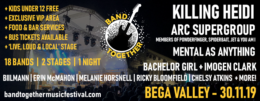 Band Together Music Festival 2019 Tickets, Sat 30/11/2019 at