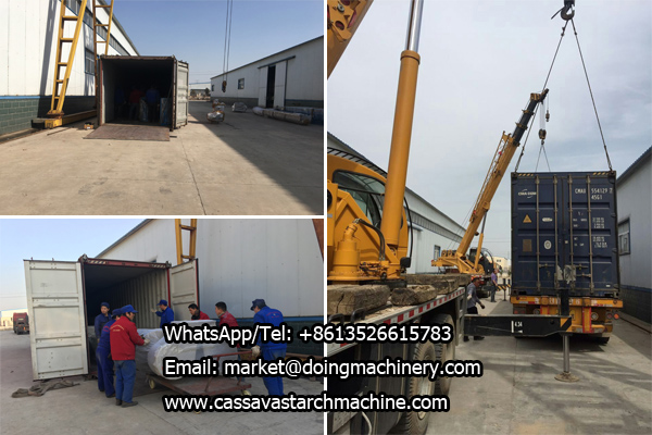 DOING cassava starch processing machine sales to India