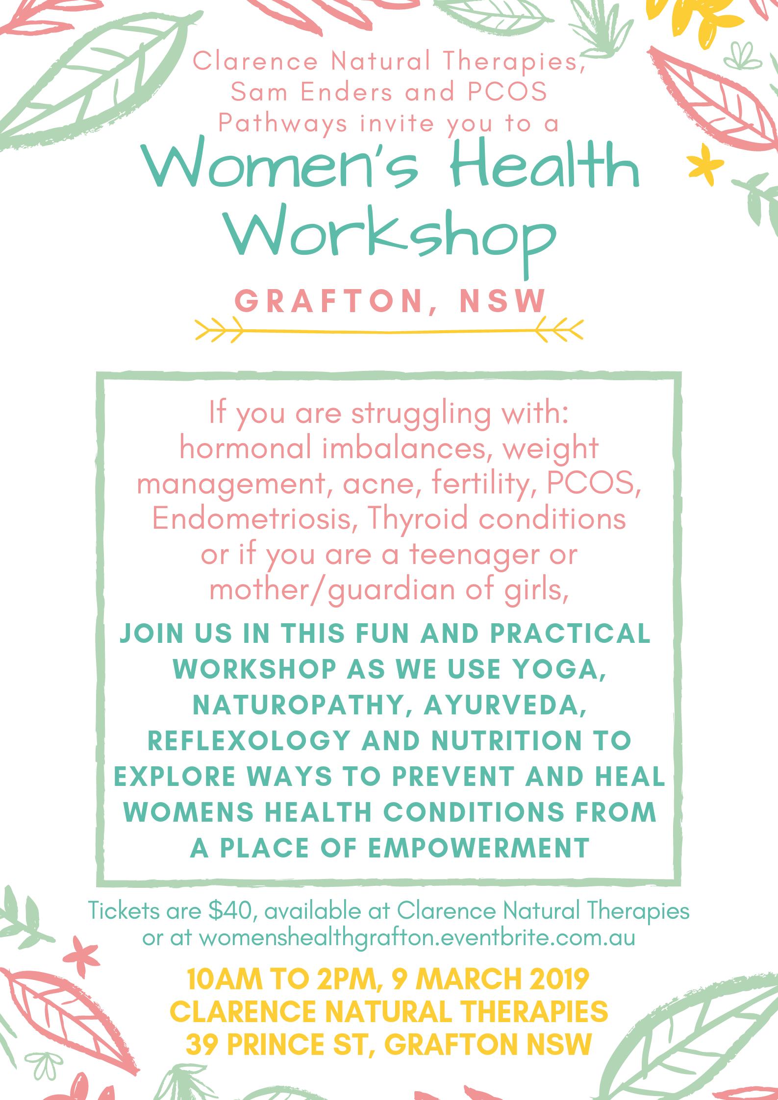 Women's Health Workshop, Grafton NSW