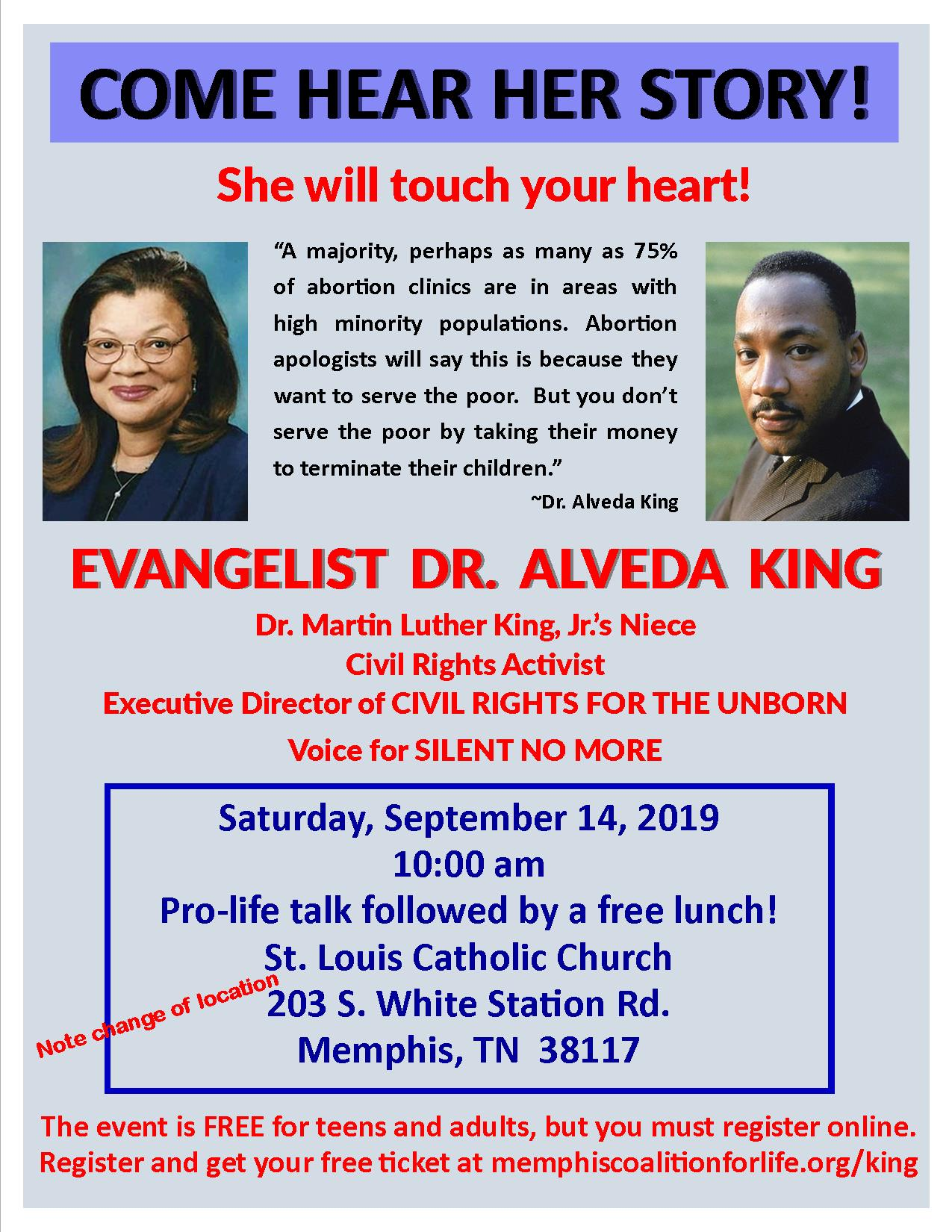 Dr  Alveda King Talk and Luncheon Tickets, Sat, Sep 14, 2019