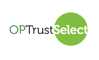 Logo with words OPTrust Select and green circle