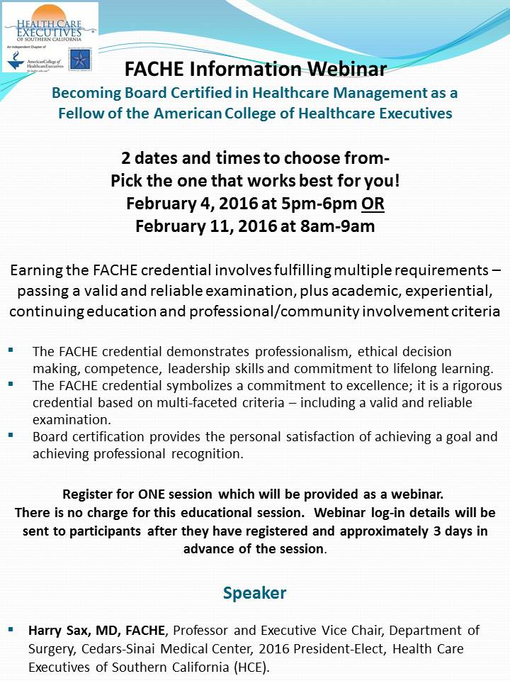 Upcoming Events Fache Advancement Information Webinar Two