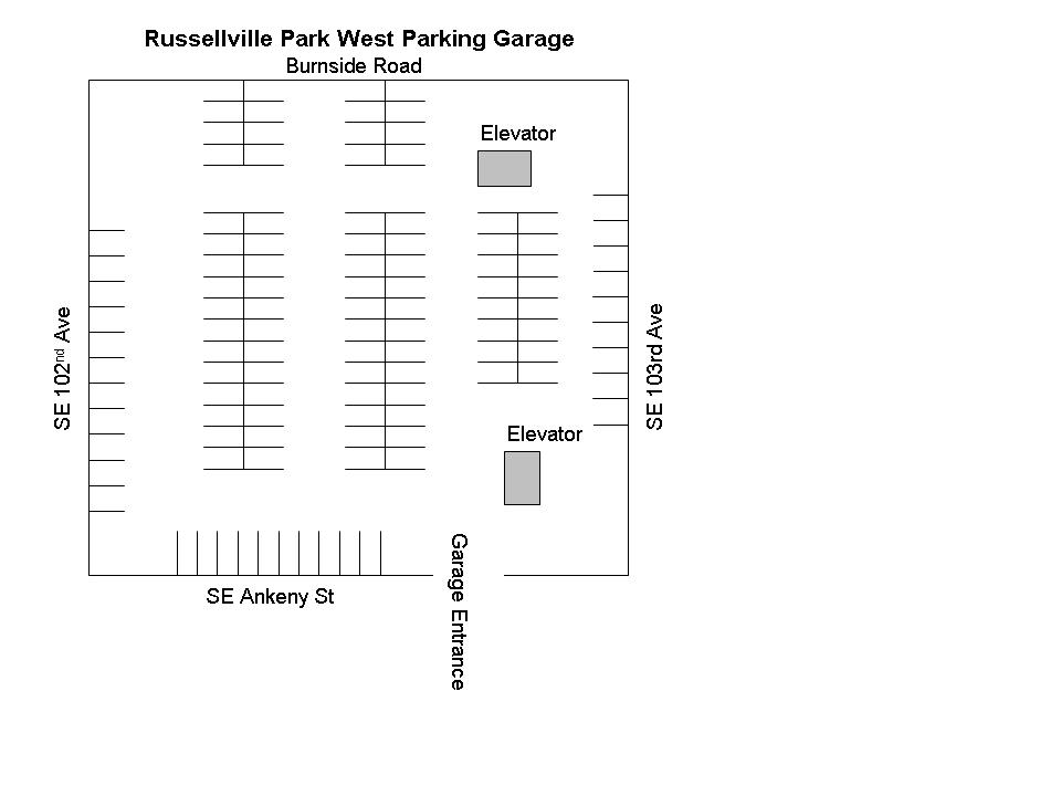 Tremble Clef Parking is available in the West Parking Garage. Enter off of SE Ankeny between SE 102nd and SE 103rd Ave.