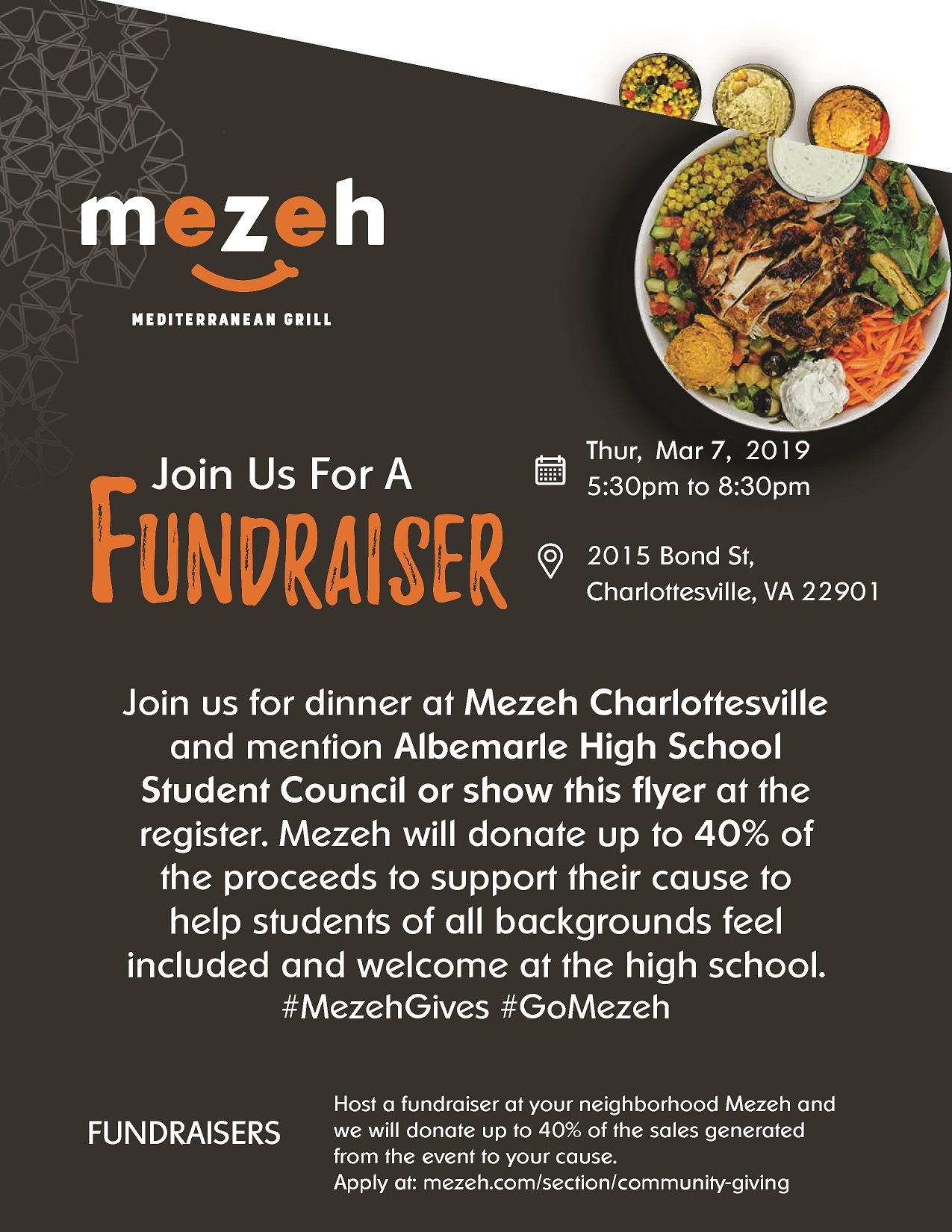 albemarle high school student council fundraiser