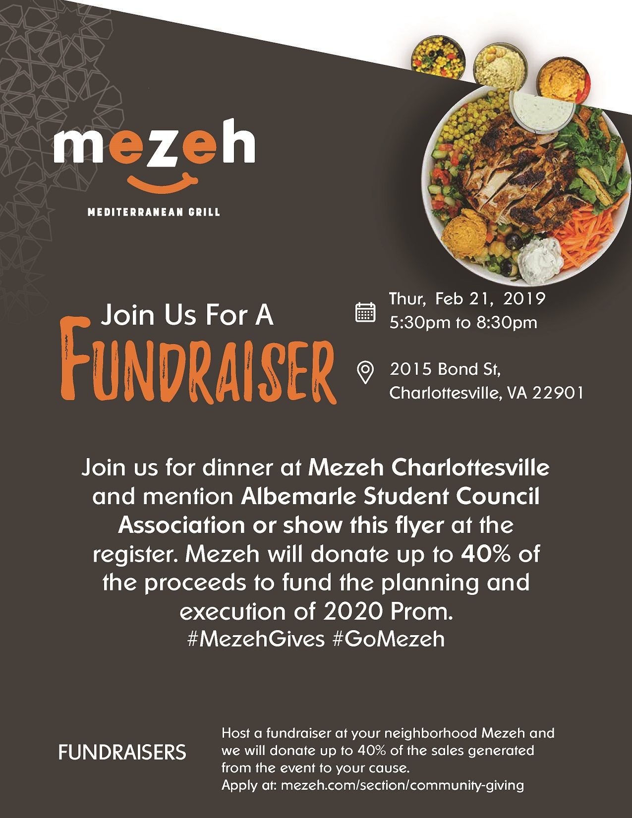 Albemarle Student Council Fundraiser