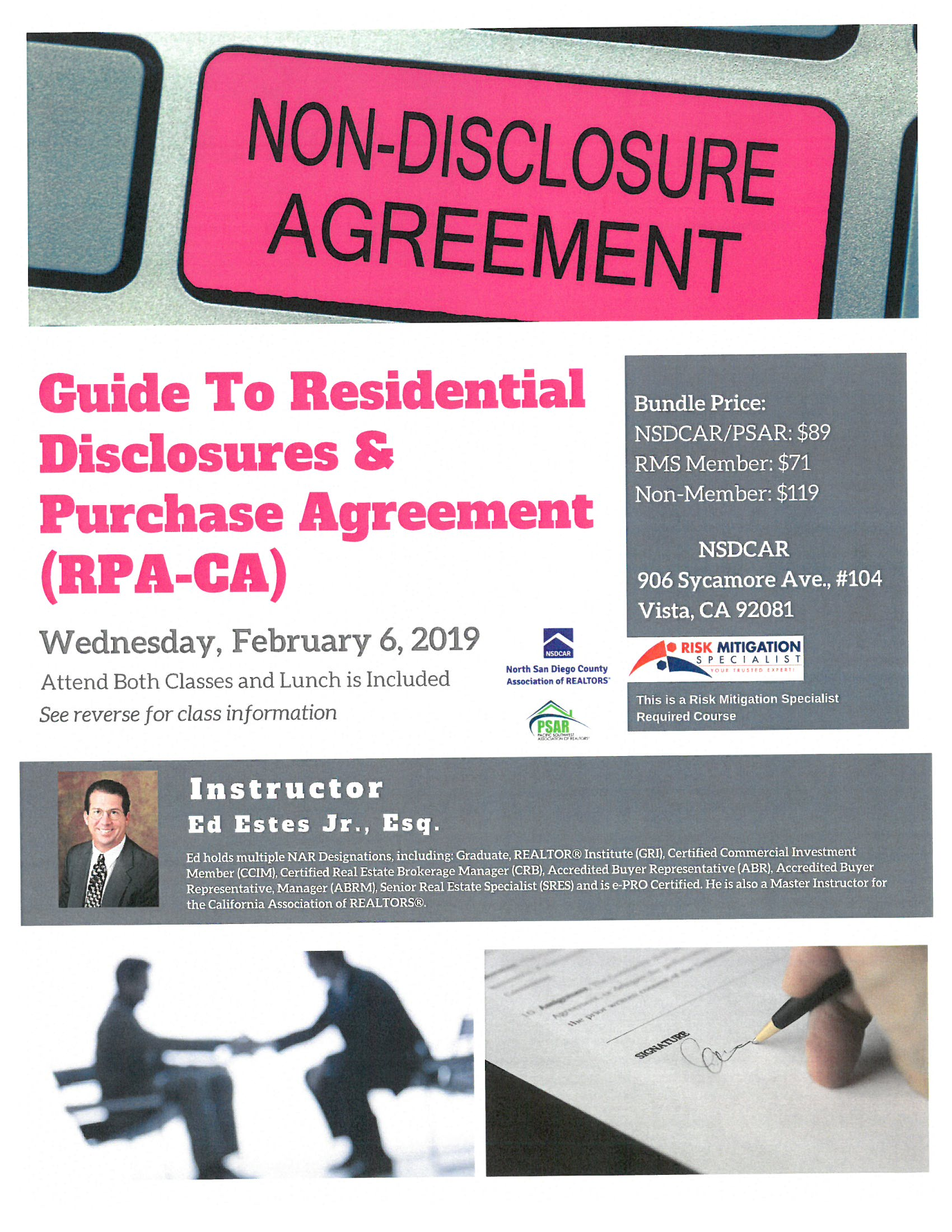 Guide To Residential Disclosures Residential Purchase Agreement