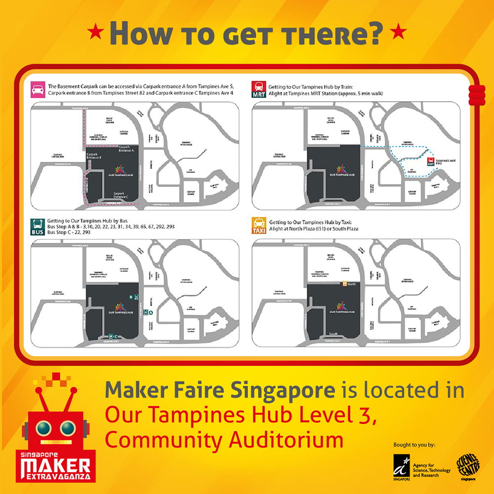 Maker Faire Singapore 2018 - Readability News on roblox map, wedding map, new york map, halloween map, maker fair map,