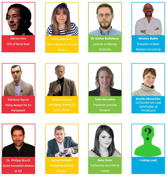 Speakers at Gamification Europe 2019