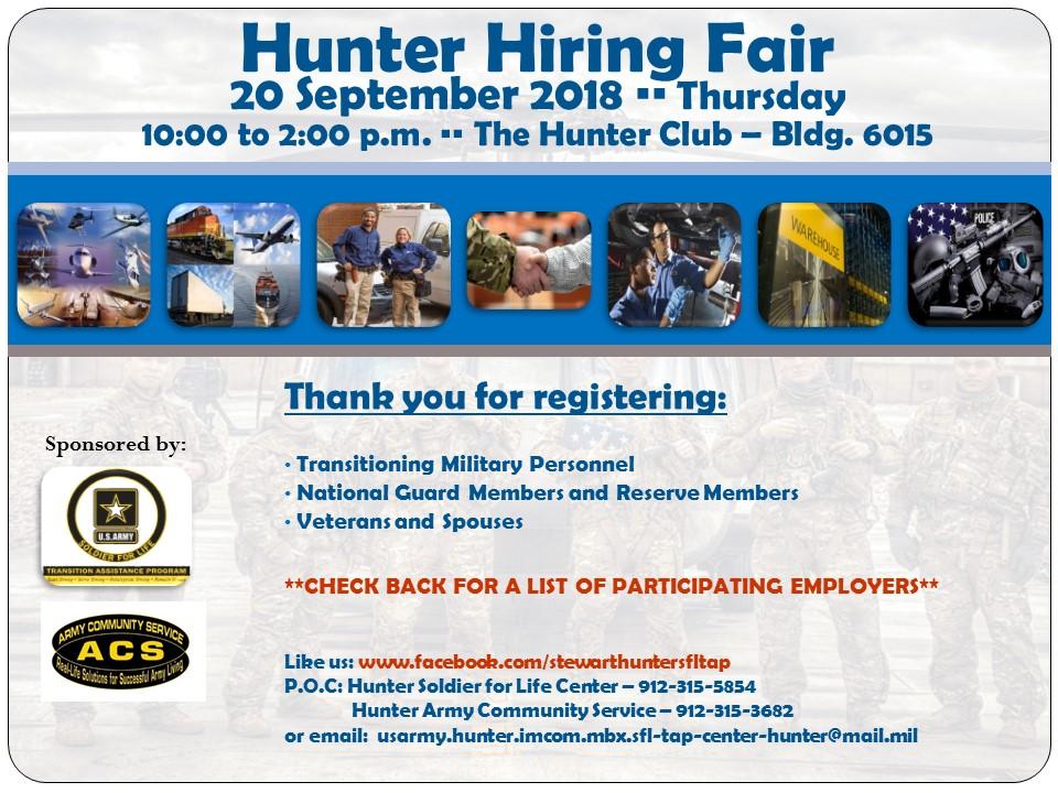 Hunter Hiring Fair Flyer