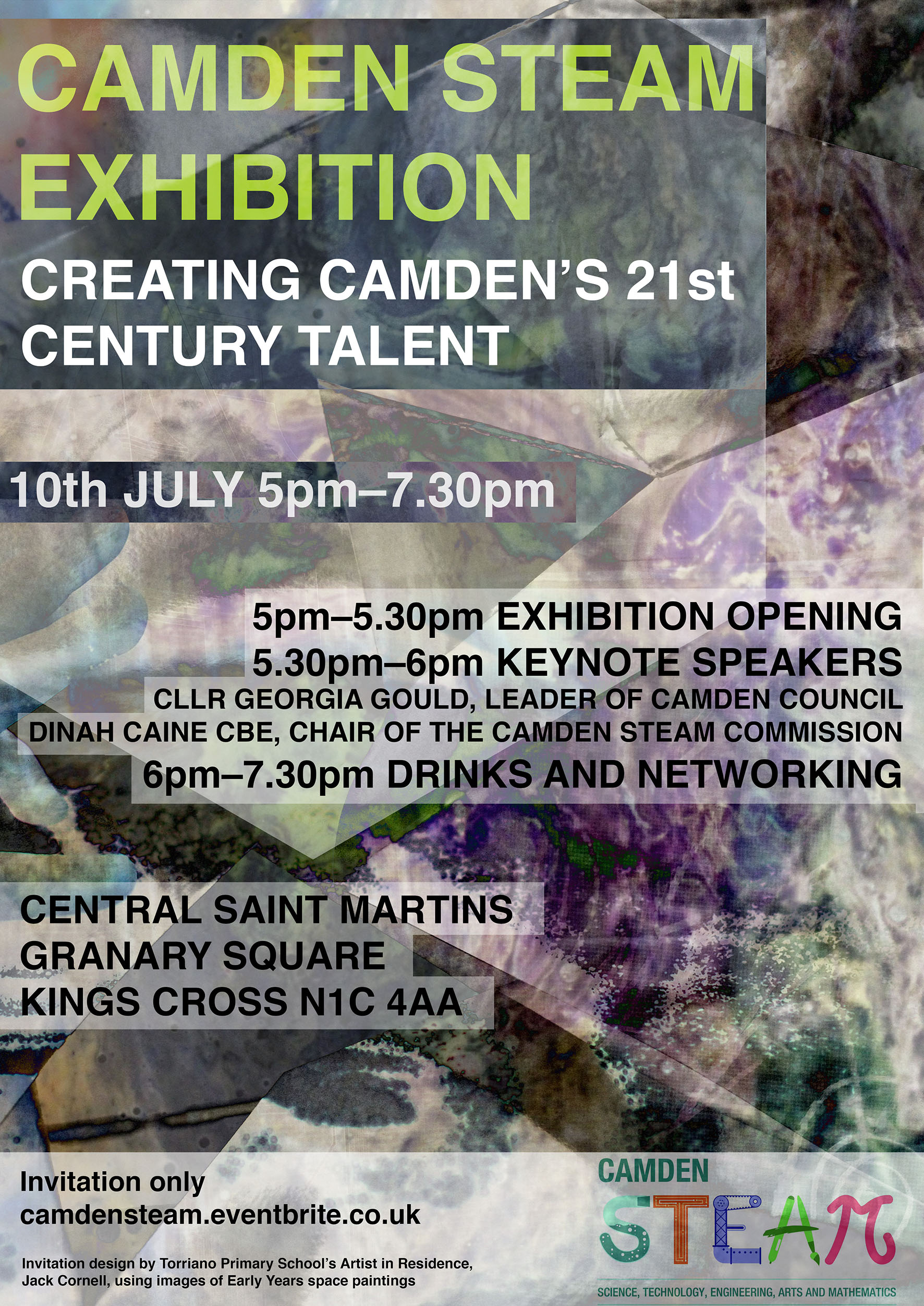 Camden STEAM Exhibition Invitation