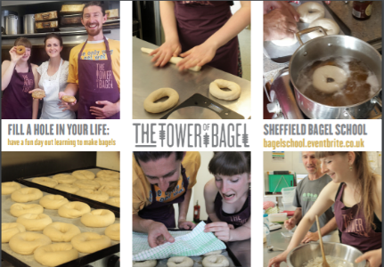 Students enjoy the Tower of Bagel course