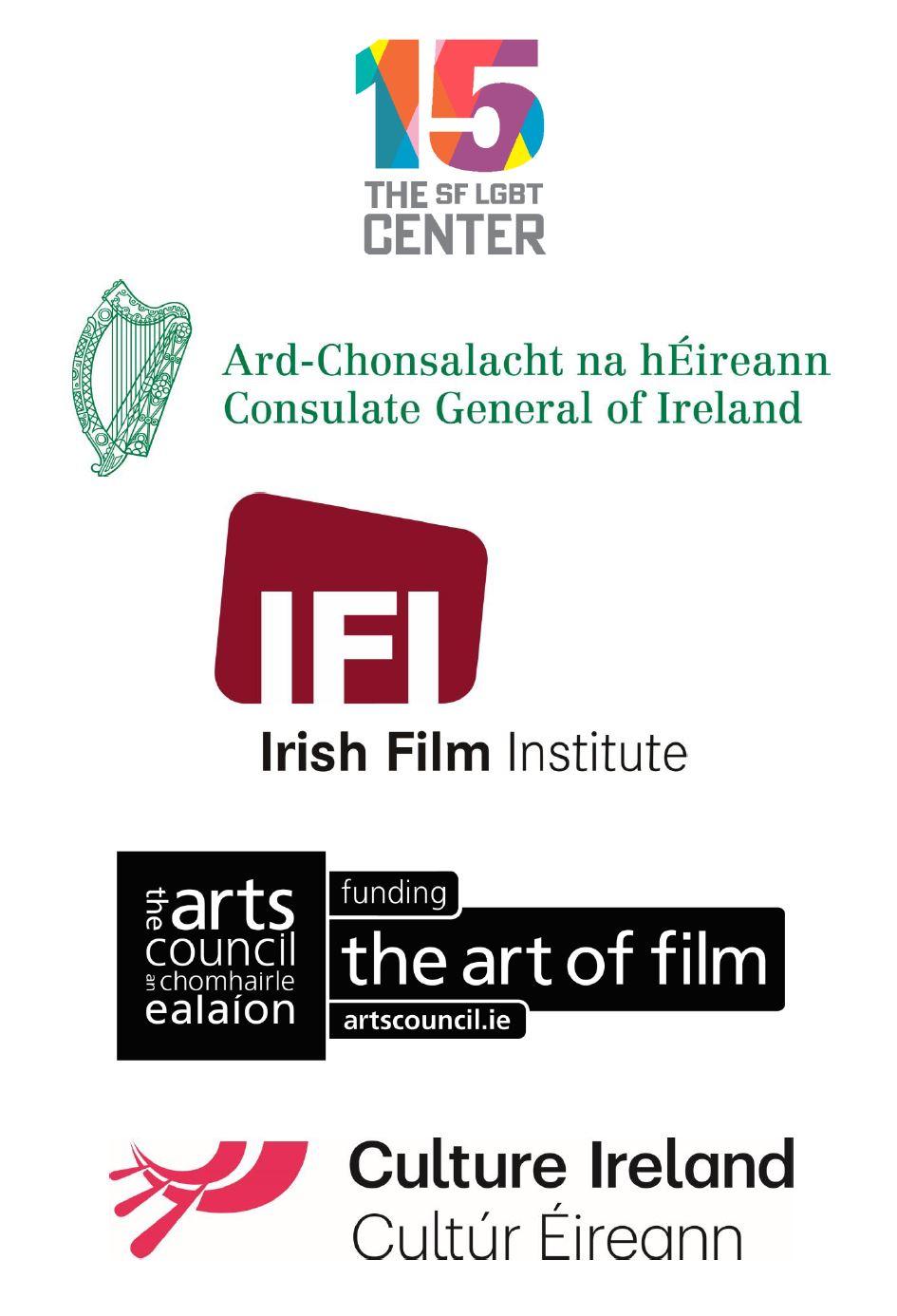 Sponsor logos: SF LGBT Center, Consulate General of Ireland