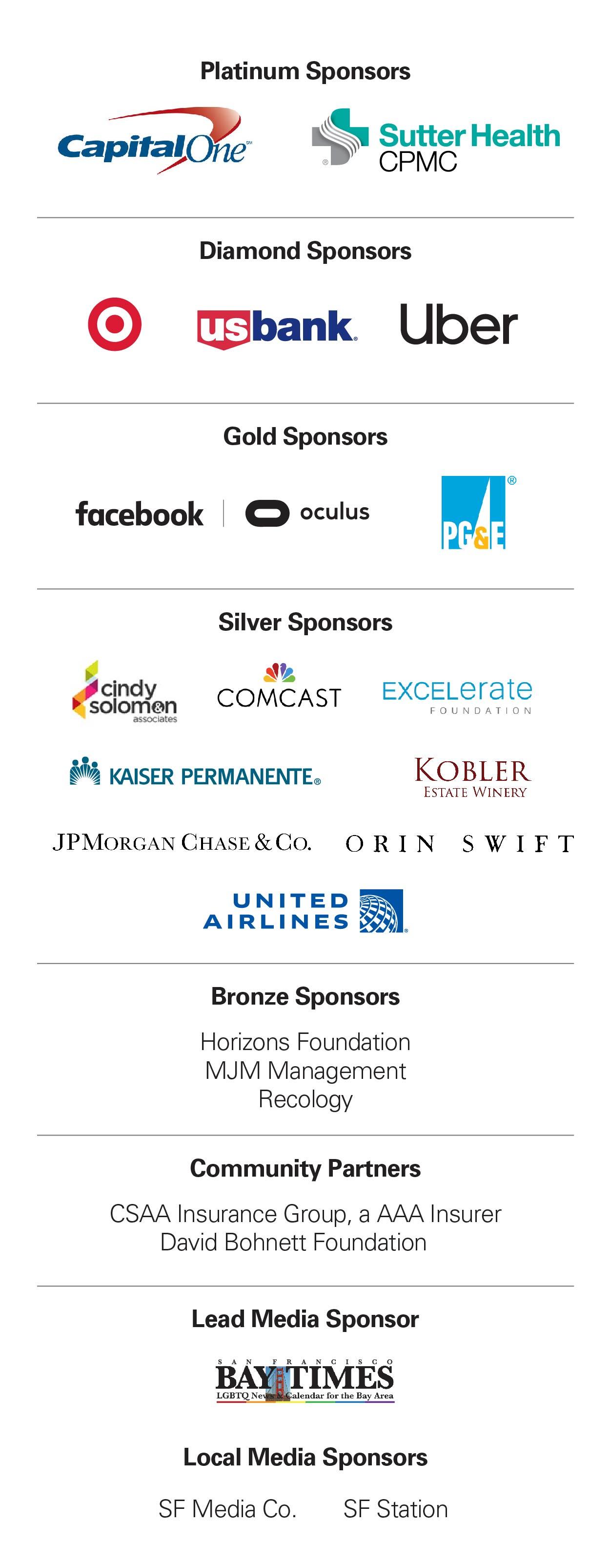 Soiree 2019 Sponsors