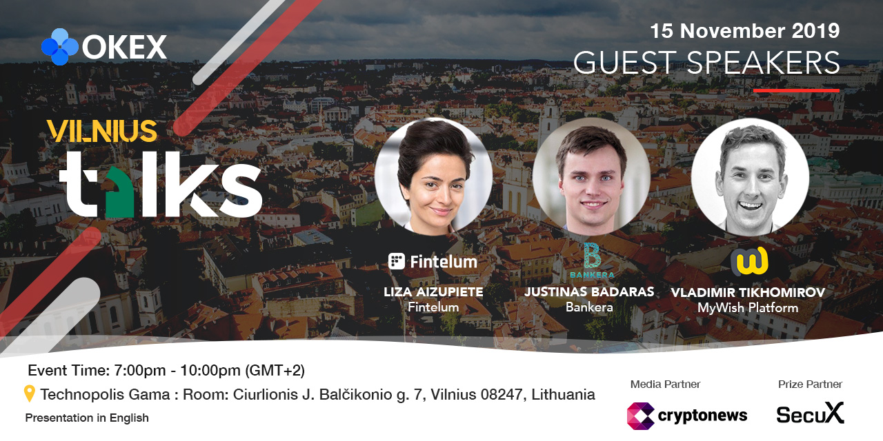 Vilnius Lithuania OKEx Talks speaker list