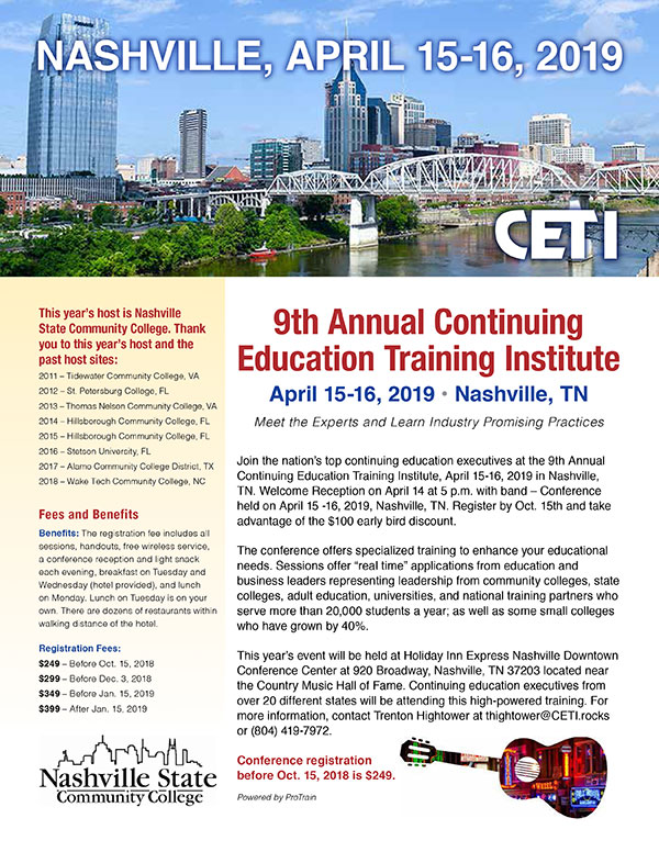 CETI: Nashville, April 15-16, 2019
