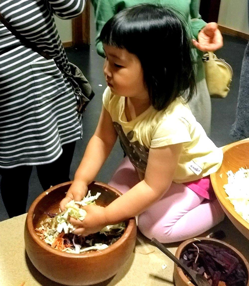 kyoko's daughter at fermentation station