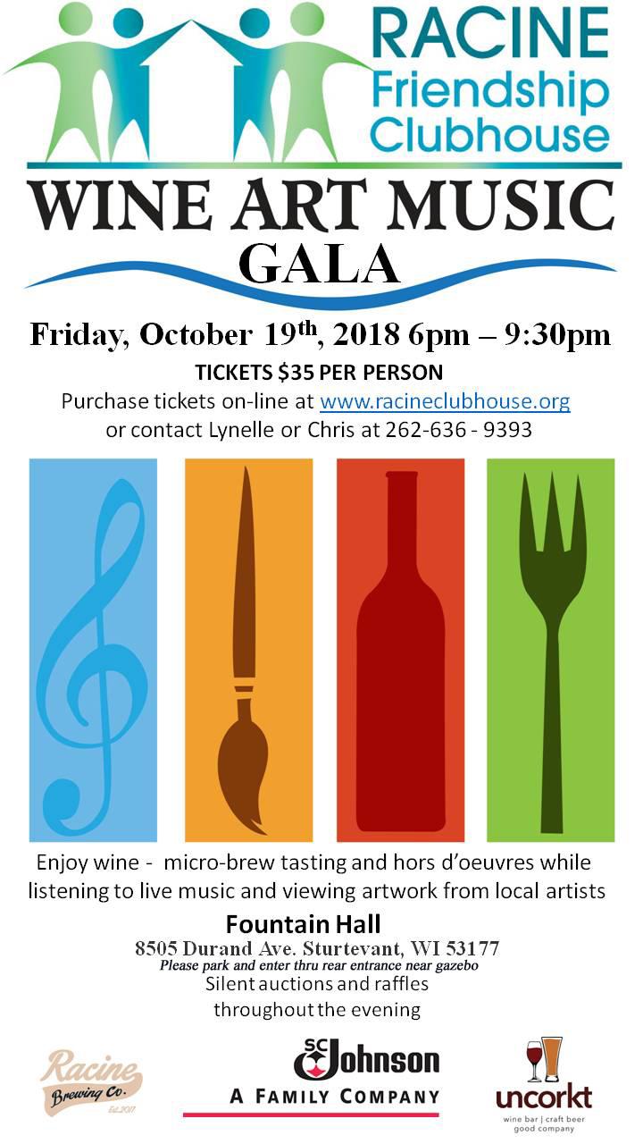 Wine Art Music Poster