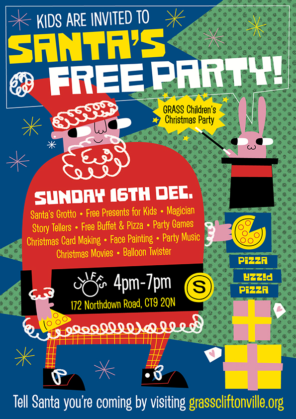 Invitation to the GRASS Children's Christmas Party