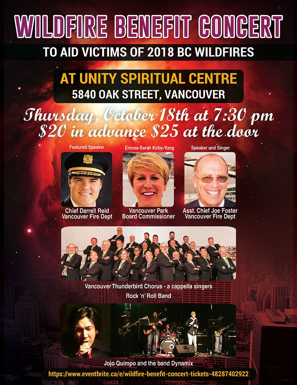 Wildfire Benefit Concert at Unity Spiritual Centre