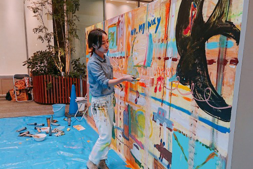 live painting parformance