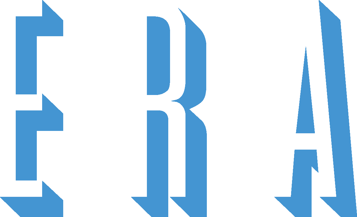 ERA logo blue lettering