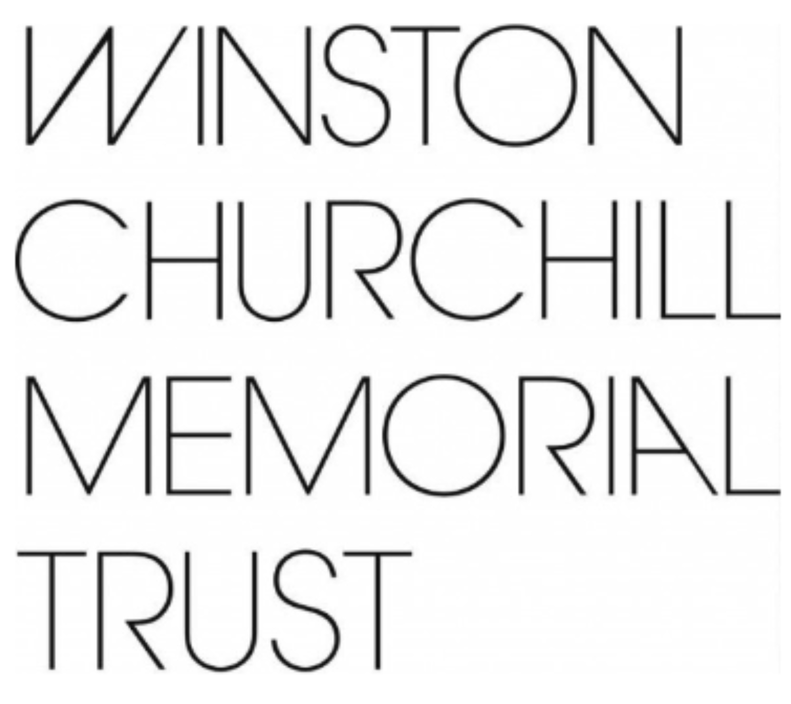 Winston Churchill Memorial Trust logo white background black lettering
